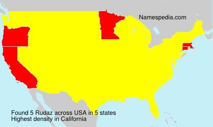 Familiennamen Rudaz - USA