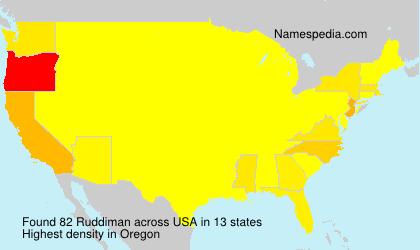 Familiennamen Ruddiman - USA