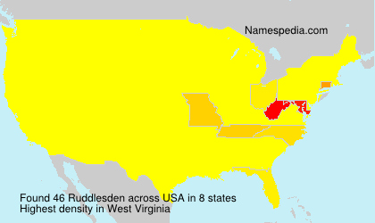 Surname Ruddlesden in USA