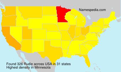 Familiennamen Rudie - USA