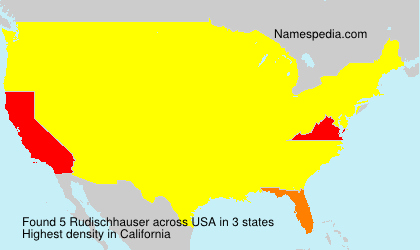 Familiennamen Rudischhauser - USA