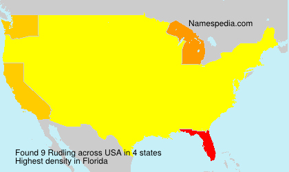 Surname Rudling in USA