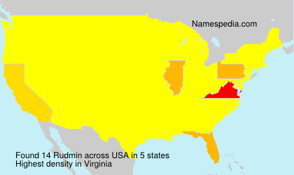 Surname Rudmin in USA