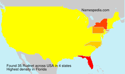 Surname Rudnet in USA