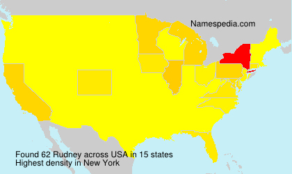 Surname Rudney in USA