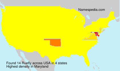 Surname Ruefly in USA