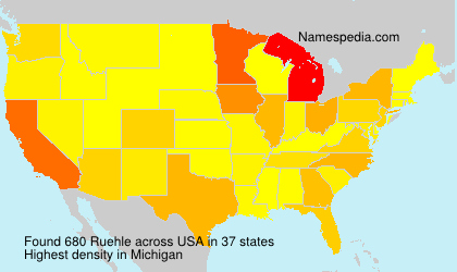 Surname Ruehle in USA
