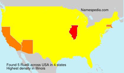 Surname Ruelli in USA