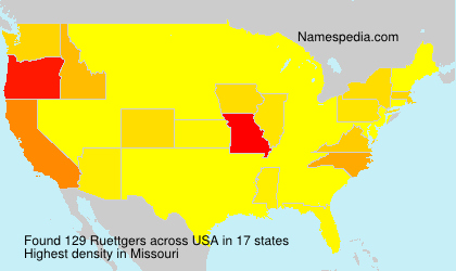 Surname Ruettgers in USA