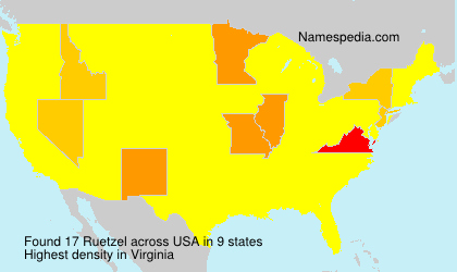 Surname Ruetzel in USA