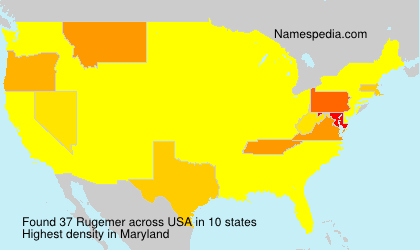 Surname Rugemer in USA