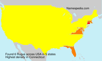 Surname Rugus in USA