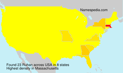 Surname Ruhan in USA
