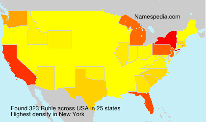 Surname Ruhle in USA