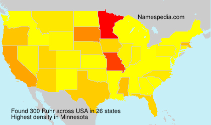 Surname Ruhr in USA