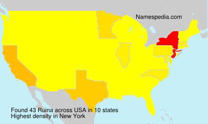 Surname Ruina in USA
