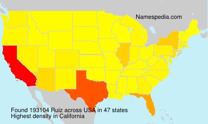 Surname Ruiz in USA