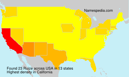 Surname Ruize in USA