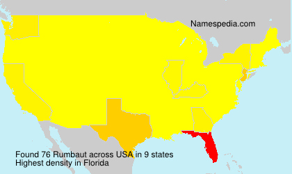 Surname Rumbaut in USA