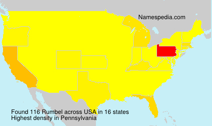 Surname Rumbel in USA
