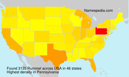 Surname Rummel in USA