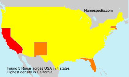 Surname Runar in USA