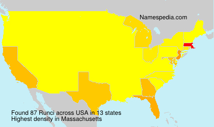 Surname Runci in USA