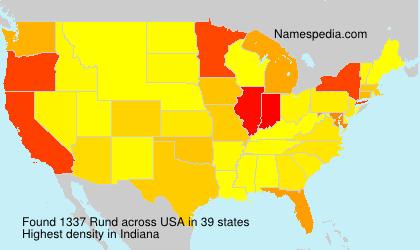 Surname Rund in USA