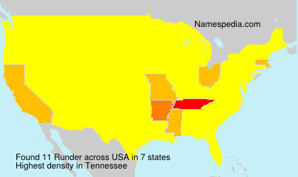 Surname Runder in USA