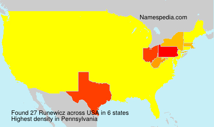Surname Runewicz in USA