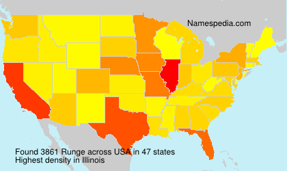 Surname Runge in USA
