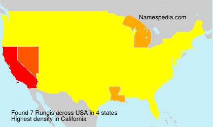 Surname Rungis in USA