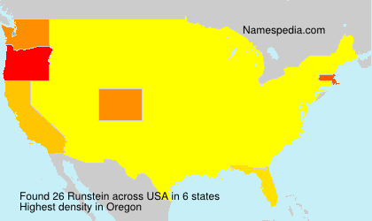 Surname Runstein in USA