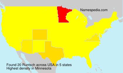 Surname Runtsch in USA