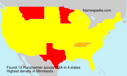 Surname Runzheimer in USA