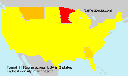 Surname Ruone in USA