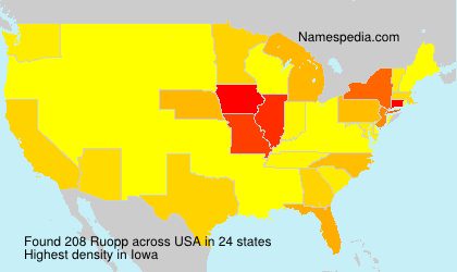Surname Ruopp in USA