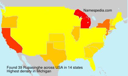 Surname Rupasinghe in USA