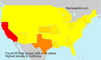 Surname Rupf in USA