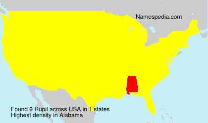 Surname Rupil in USA