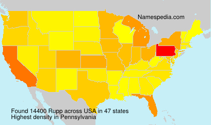 Surname Rupp in USA
