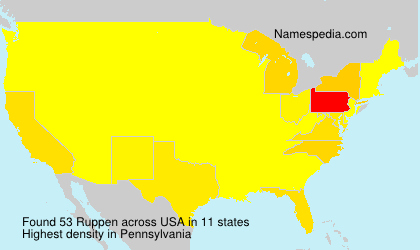Surname Ruppen in USA