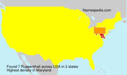 Familiennamen Ruppenthall - USA
