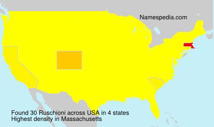 Surname Ruschioni in USA