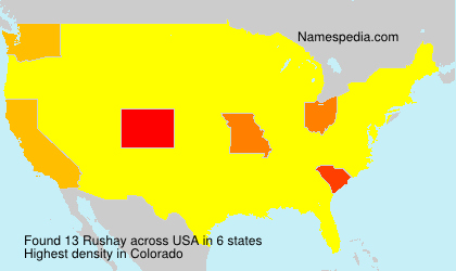 Surname Rushay in USA