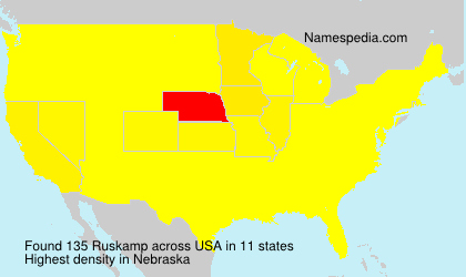 Surname Ruskamp in USA
