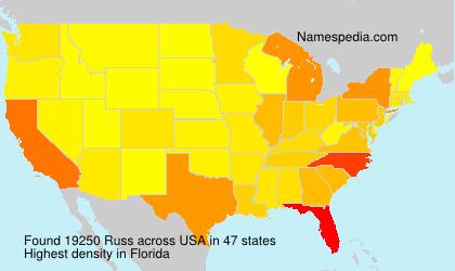 Familiennamen Russ - USA