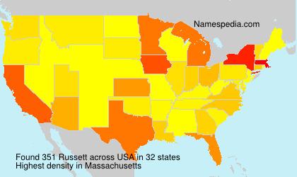 Surname Russett in USA