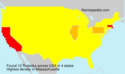 Familiennamen Rusteika - USA