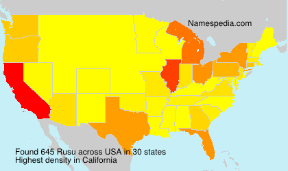Surname Rusu in USA